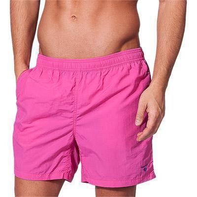 herren badeshorts freizeit kurz shorts einfarbig schnell trocknend casual strand shorts pink l. Black Bedroom Furniture Sets. Home Design Ideas