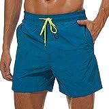ODOKEI Badehose für Herren Jungen Badeshorts Sporthose kurz Männer Schnelltrockend Sport Schwimmhose Türkisblau M