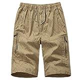 Herren Zipper Sweatpants Kurze Hosen Loose Pocket Tasche Cargo Shorts Working Boardshort Track Pants Buckle Cropped Pants Lose Latzhose Overalls Chicago Kurze Leggings