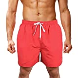 Sport Shorts Herren Sommer Strand Sea Surfen Kurze Hose Boxing Bermuda Running Fitness Gym Lightweight Training Shorts,Qmber Strand Stickerei von Buchstaben in einfarbig/Rosa,4XL