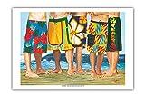 Pacifica Island Art Lässiger Freitag - Surfer in Boardshorts von Scott Westmoreland - Kunstdruck - 31cm x 46cm