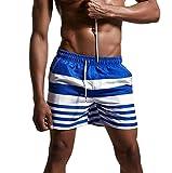 Badehose Herren,Binggong Mens Breathable Badehose Hosen Bademode Shorts Slim Wear Bikini Badeanzug Wassersport Schwimmen Trunks Herren Surfen Boardshorts Slips Kurze Badehose (XL, Blau)