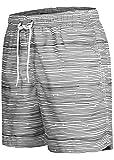 Occulto Herren Männer Badehose in vielen Farben | Badeshort | Bermuda Shorts | Beachshort | Slim Fit | Schwimmhose | Boardshort | Jungen (M, Anthrazit)