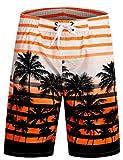 APTRO Herren Slim Fit Freizeit Shorts Casual Mode Urlaub Strand-Shorts Sommer Jun 1525 DE M Orange
