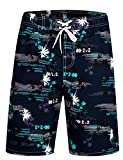 APTRO Herren Slim Fit Freizeit Shorts Casual Mode Urlaub Strand-Shorts Sommer Jun 1526 DE 2XL Blau