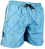 GUGGEN Mountain Herren Badeshorts Beachshorts Boardshorts Badehose Schwimmhose Männer mit Muster Print* Blau M