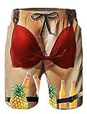 Badeanzüge für Männer Badehose Bra Strand Kurze Hosen 3D Print Elastische Taille Surfing Badeshorts XXL