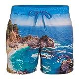 Bjorn Borg Atemberaubende Küstenabdruck-Männerschwimmen, Ibiza Blau Große