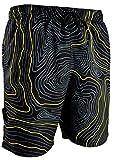 GUGGEN Mountain Herren Badeshorts Beachshorts Boardshorts Badehose Schwimmhose Männer Print* Farbe Gelb M