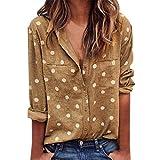 Taschen T-Shirt Damen MEIbax Damen Polka Dot Shirt Kurzarm Hemd Damen Oberteile BauchfreiDamen Große Größe Camisole