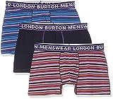 Burton Menswear London Herren 3 Pack Horizontal Stripe Underwear Badehose, Violett (Purple 120), L