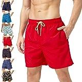 coskefy Badehose für Herren Jungen Badeshorts (Rot, M(EU)-MarkeGröße XL)