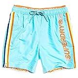 Superdry Badeshorts Herren State Volley Swim Short Lagoon Blue, Größe:L