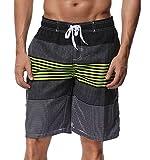 SHEKINI Herren Badeshorts Badehose Beach Shorts Bermuda Shorts Sommer Strand Sport Shorts Größen 28-36 (34, Grün)