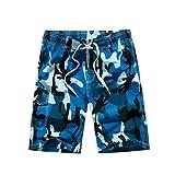 YoungSoul Herren Camouflage Badehose / Surfer Boardshorts / Beachshorts Badeshorts Sommer Strand / Knielang Blau EU M / Etikette L