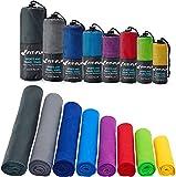 Fit-Flip Sporthandtuch, Reisehandtuch, Microfaser-Badetuch, XXL Strandhandtuch, Sauna Microfaser Handtuch groß (70x140cm blau)