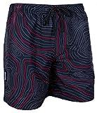 GUGGEN Mountain Herren Badeshorts Beachshorts Boardshorts Badehose Schwimmhose Männer *High Quality Print* Farbe Rot S