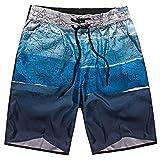 Ansenesna Badehose Herren Sommer Kurz Hose Mit Gummibund Schnelltrocknend Dünn Bunt Strand Sport Freizeithose (XL, Blau)