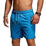 behype. Herren Bade-Shorts Kurze Hose Swim-Shorts Bade-Hose Strand Beach-Wear 80-1201 Türkis M