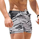 Battnot Badehose für Herren, Camouflage Tarnen Sport Shorts Badebekleidung Badeanzüge Grundlegende Long Eng Beach Surfing-Boxershorts Männer Freizeit Casual Schwimmer Slim Trunks Swimwear s XXL