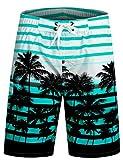 APTRO Herren Slim Fit Freizeit Shorts Casual Mode Urlaub Strand-Shorts Sommer Jun 1525 DE M Blau