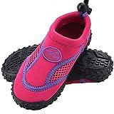 Deuba Wasserschuhe Badeschuhe Surfschuhe Aquaschuhe Strandschuhe Kinder Gr. 33 pink/violett