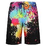 URVIP Herren Badeshorts Badehose in vielen Farben |Badeshort| Bermuda Shorts |Schwimmhose |Badehosen |Badehose für Männer in den Größen S bis 6XL L-15782 3XL