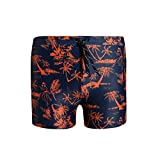 HIAO Badehose Männer Fest Polyester Drucken Mehrere Größen Heißer Frühling Schwimmbad Strand Schwarz Orange Nähen Muster (größe : 3XL)