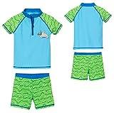 Playshoes Baby - Jungen UV-Schutz Bade-Set Robbe Badehose, per Pack Blau (blau/grün 791), 86/92 (Herstellergröße: 86/92)