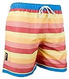 Luvanni Herren Badeshorts Beachshorts Boardshorts Badehose Schwimmhose Männer gestreift Streifen Streifenmuster Farbe Bunt XL