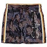 Superdry Herren State Volley Swim Shorts Schwarz (Black Camo A15) Medium (Herstellergröße: M)