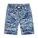 UJUNAOR 2019 Sommer Herren Badeshorts/Badehose Mode im ethnischen Stil Print Surfen Trunks Hosen für Männer Strandhosen Schnelltrocknend Unterwäsche(Blau,XXX-Large)