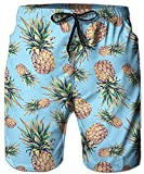 Idgreatim Männer Badehose Ananas Druck Quick Dry Beach Boardshorts Bademode XXL