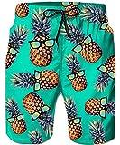 TUONROAD Badehose Herren Hawaii,Ananas Muster Gedruckt Schwimmen Sport Shorts Gerades Bein Strand Shorts Hosen Strand Trunks