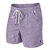 Ralph Lauren Gingham Kariert Badeshorts (XL, Lavendel)