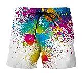 Herren Sommerhosen Classic Fashion Lustige Buntes Drucken Sommer Strand Badehose Boardshorts Schnelltrocknend Shorts