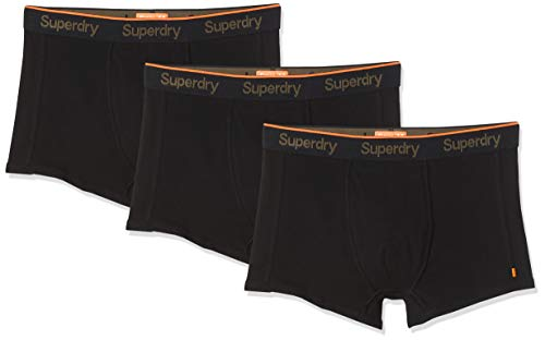Superdry Herren ORANGE Label Sport Trunk Triple Pack Badehose, Schwarz (Black Multipack I6W), Large