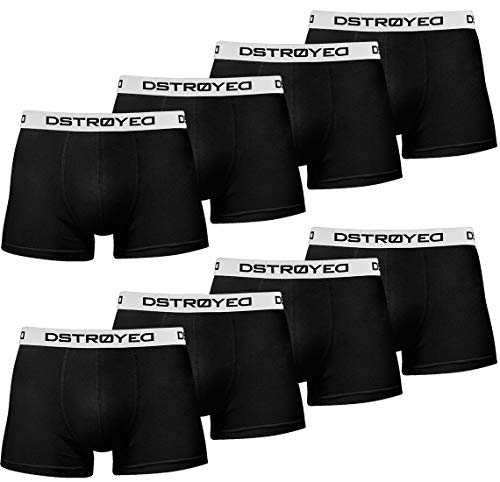 DSTROYED ® Boxershorts Men Herren 8er Pack Unterwäsche Unterhosen Männer Retroshorts 316 (L, 315b 8er Set Schwarz-Weiß)