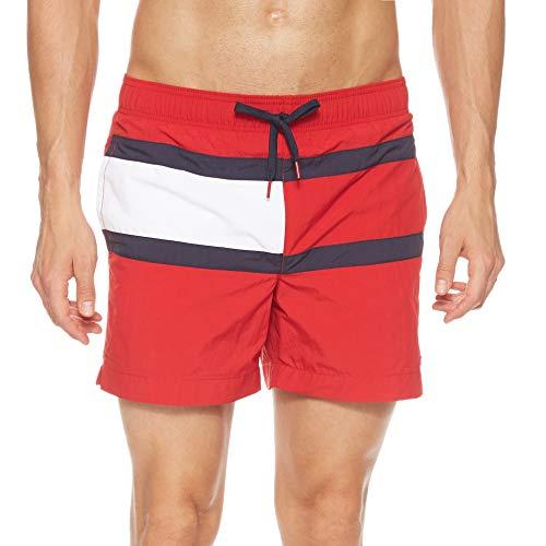 Tommy Hilfiger Herren MEDIUM Drawstring Shorts, Rot (RED 611), (Herstellergröße:XL)