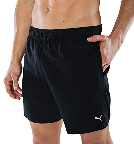PUMA Herren Badehose Badeshorts Summer Deluxe Swim Shorts - schwarz - Gr. M