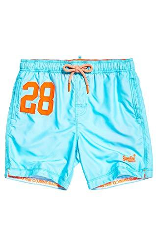 Superdry Herren Water Polo Swim Shorts, Blau (Light Lagoon Blue Q2r), Large