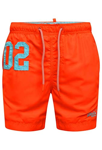 Superdry Herren Water Polo Swim Shorts, Arancione (Havana Orange Vqh), X-Large