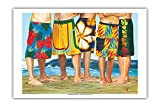 Pacifica Island Art - Lässiger Freitag - Surfer in Boardshorts - Gemälde von Scott Westmoreland - Kunstdruck 31 x 46 cm
