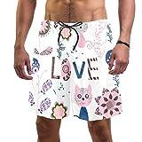 Love Animal Herren Badehose, schnelltrocknend, elastischer Bund mit Kordelzug Gr. S 7-9, Multi