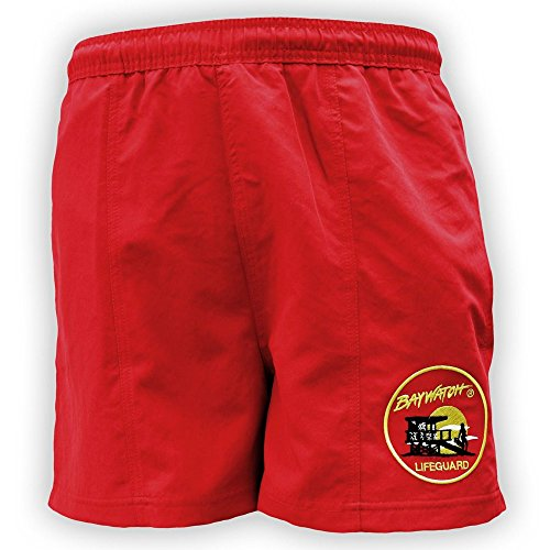 Offizielle Baywatch® Badeshorts, Rot Gr. S, rot