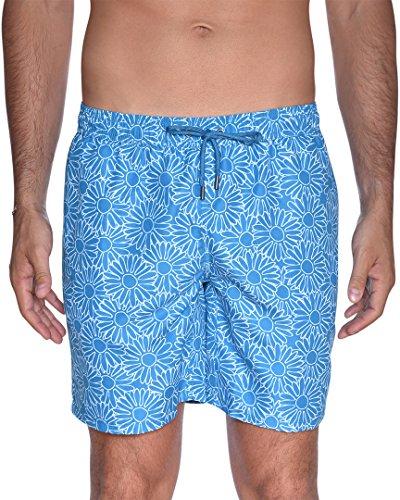 Beach Bros Herren Floral Badehose, Aqua, Large